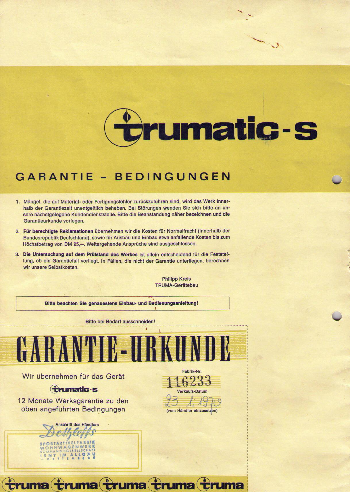 trumatic s 3002 bedienungsanleitung